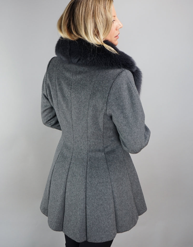 Dramatic Hi Lo Jacket- Charcoal
