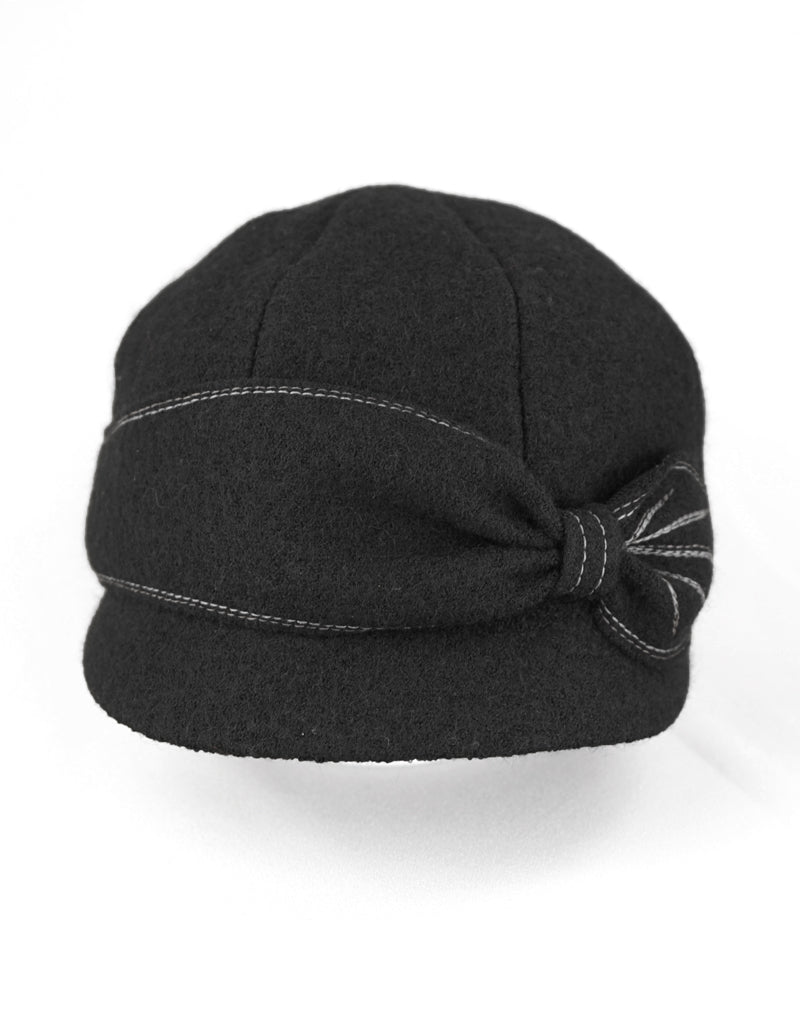 Jeanne - Lillie Cohoe / Boiled Wool Peak Cap - Black