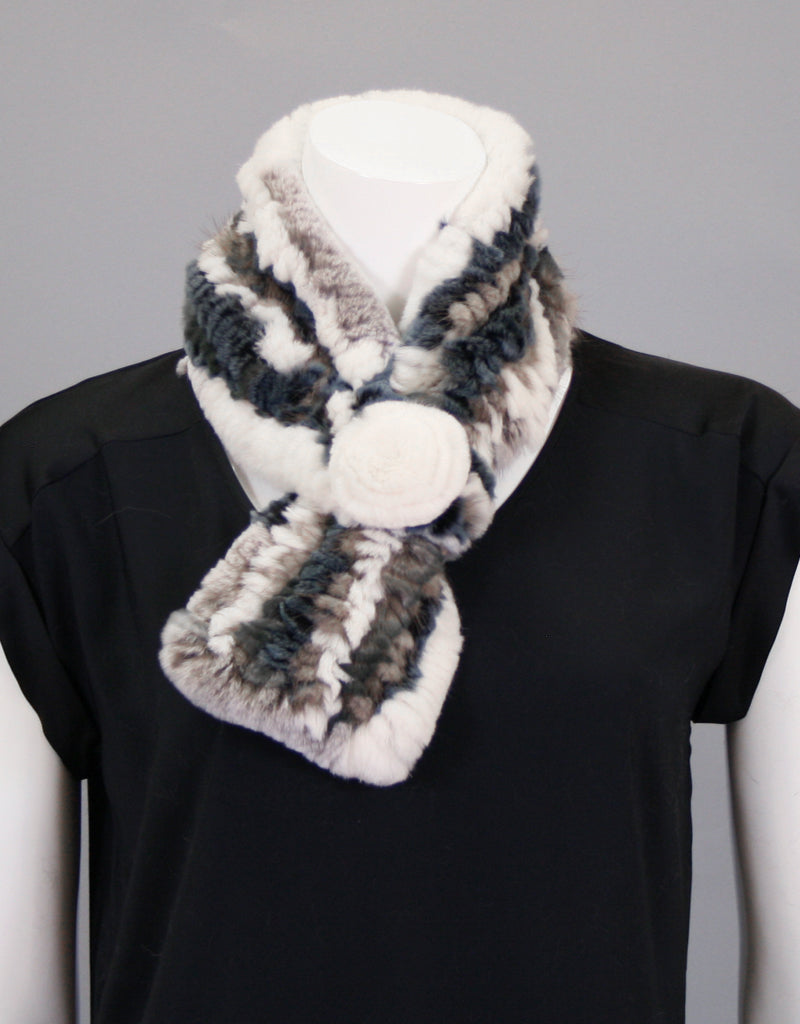 Stretch Rosette Scarf-Marble Canyon