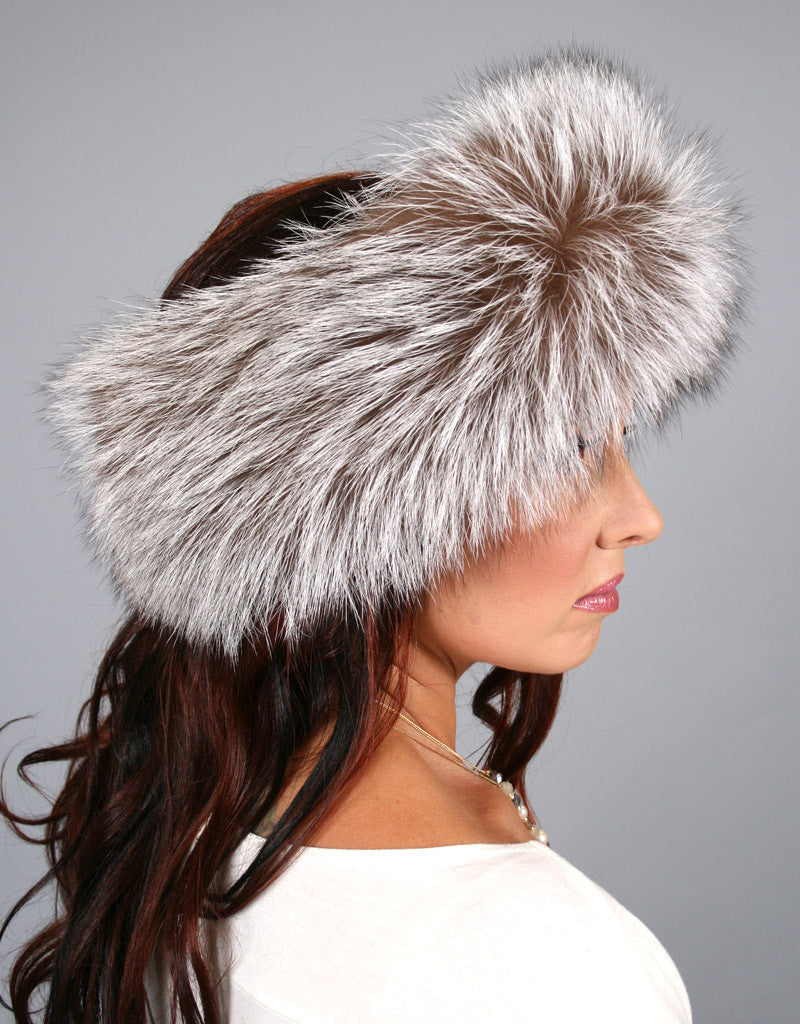 Wide Fur Headband-A