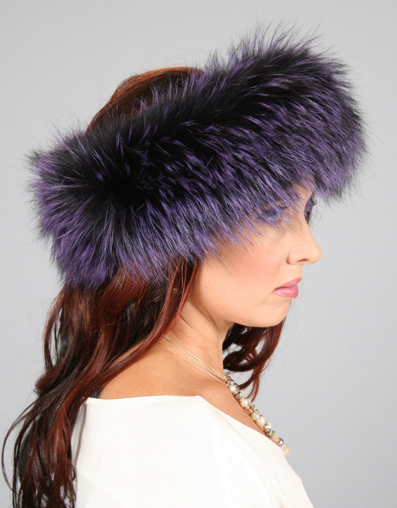 Wide Fur Headband-C