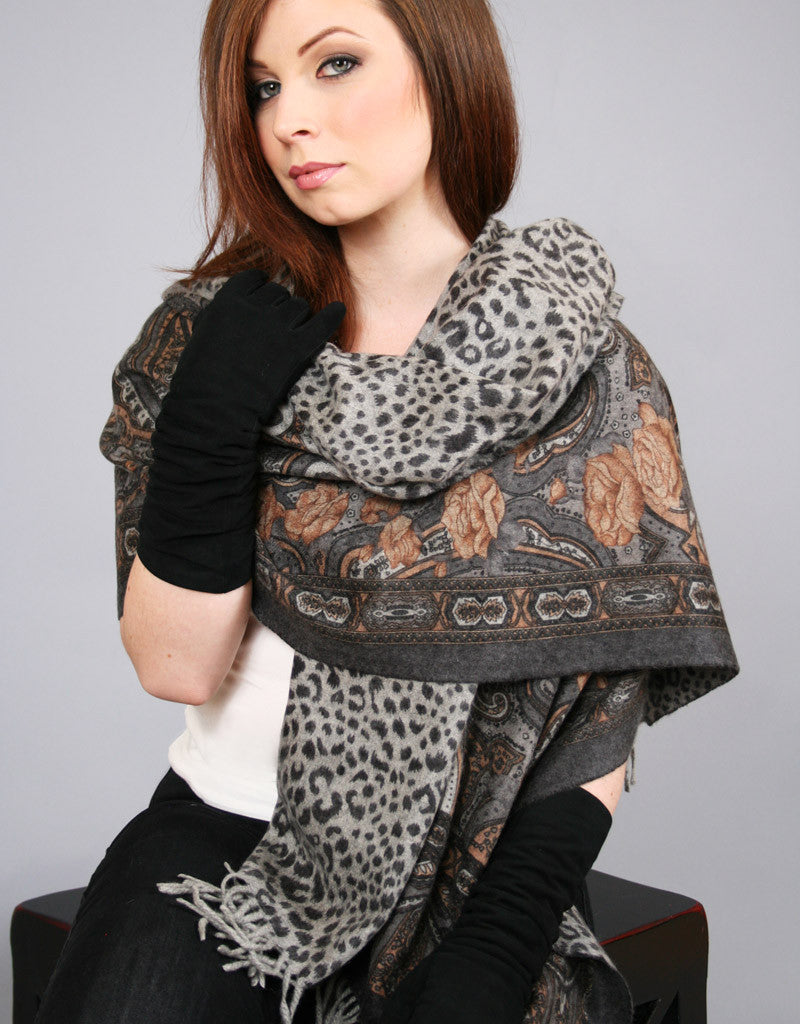 Cashmere Shawl-Rust Dkbrown