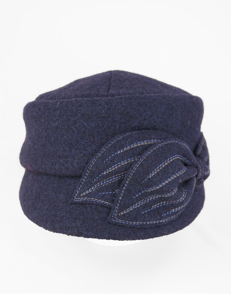 Mao Now - Lillie Cohoe / Boiled Wool Hat - Navy