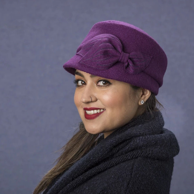 Mao Now - Lillie Cohoe / Boiled Wool Hat - Ruby