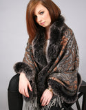 Printed Cashmere Shawl-Leopard