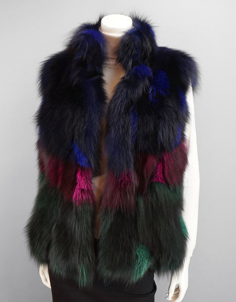 Funky Section Fox Vest-Multi Jewel