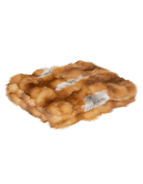 CANADIANA Fox Blanket - Natural Red