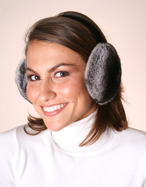 Velvet Band Earmuff- Chinchilla