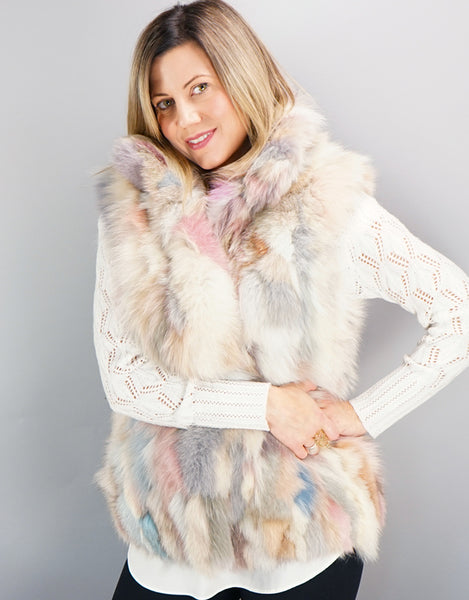 Funky Section Fox Vest - Pastel Mix