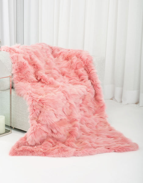 CANADIANA Fox Blanket - Pink