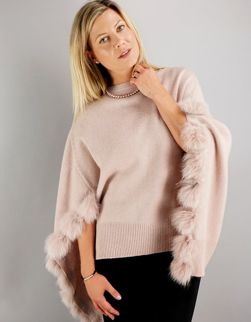 Casual Sweater / Cape - Pink
