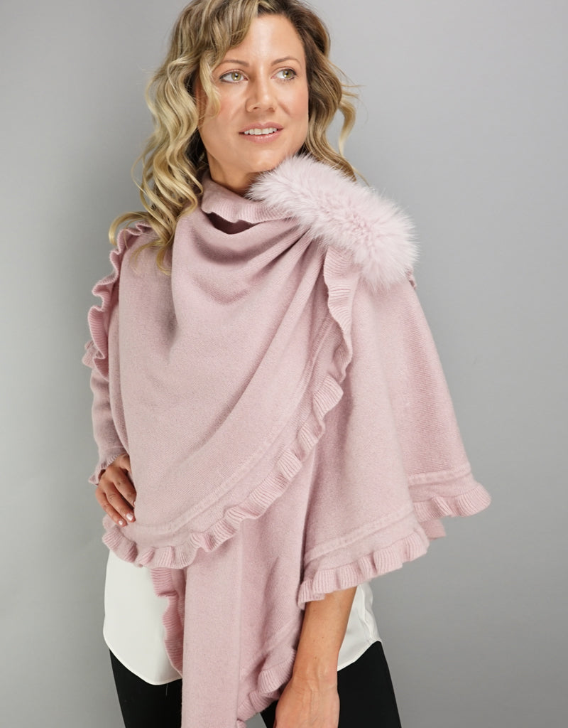 "Fancy Ruffle Loop ""Pull Thru"" Wrap - Pink"