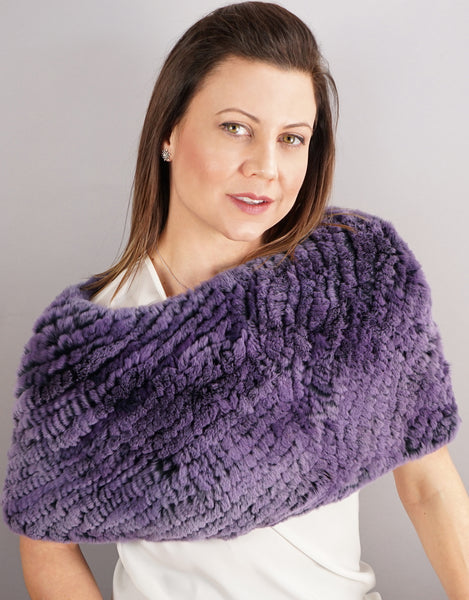 Stretch Cowl/ Shrug- Purple