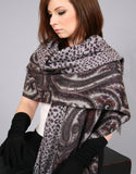 Printed Reversible Shawl-Marble