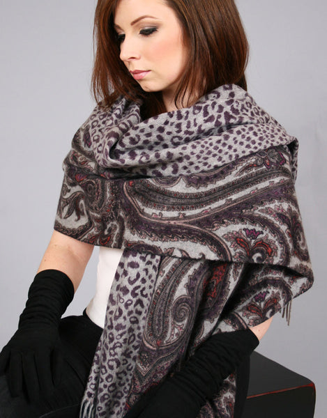Cashmere Shawl-Purple