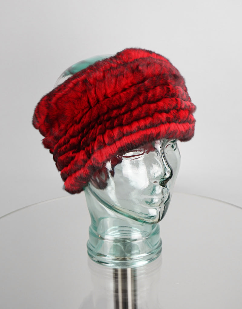 Stretch Headband- Red Black