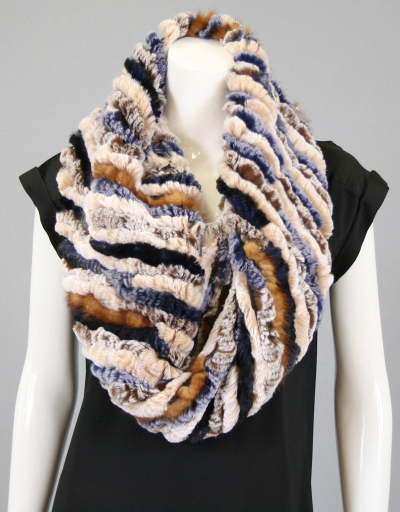 Random Stripe Stretch Cowl/ Shrug-A