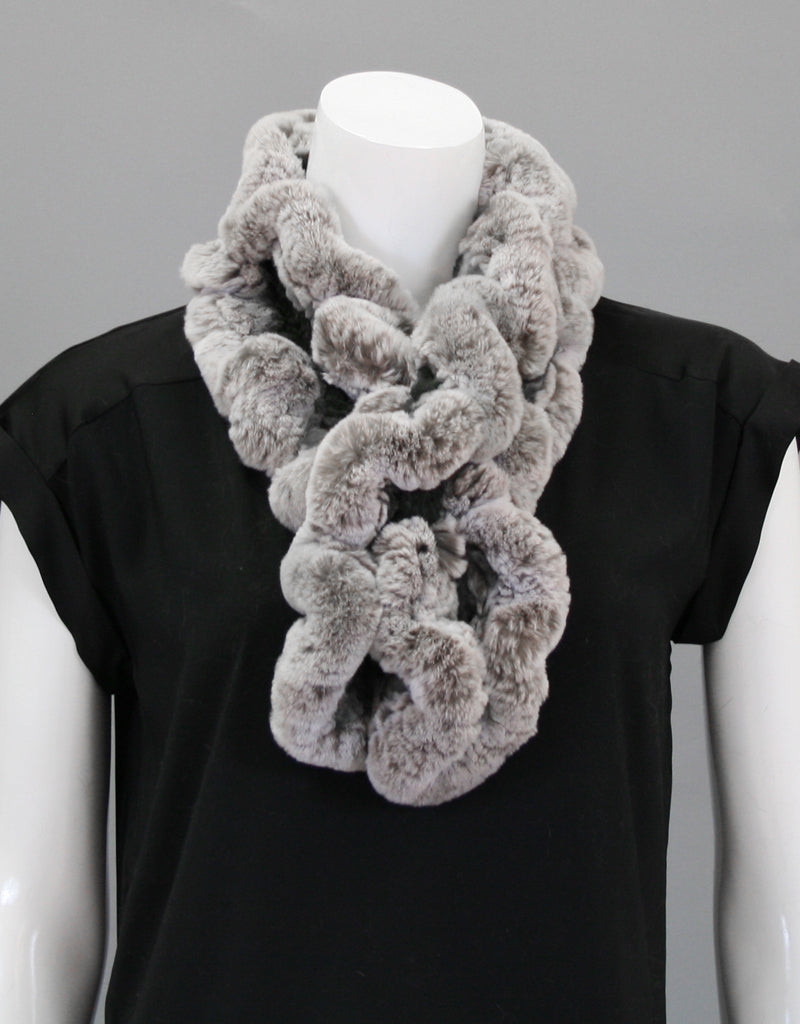 Ruffle Scarf-Putty