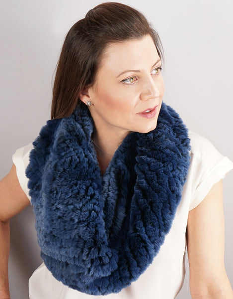 Stretch Cowl/ Shrug- Royal Blue Black