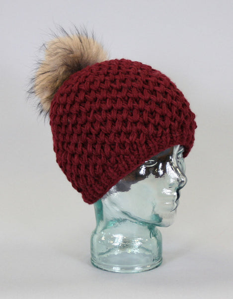 V-Stitch Knit Hat-B