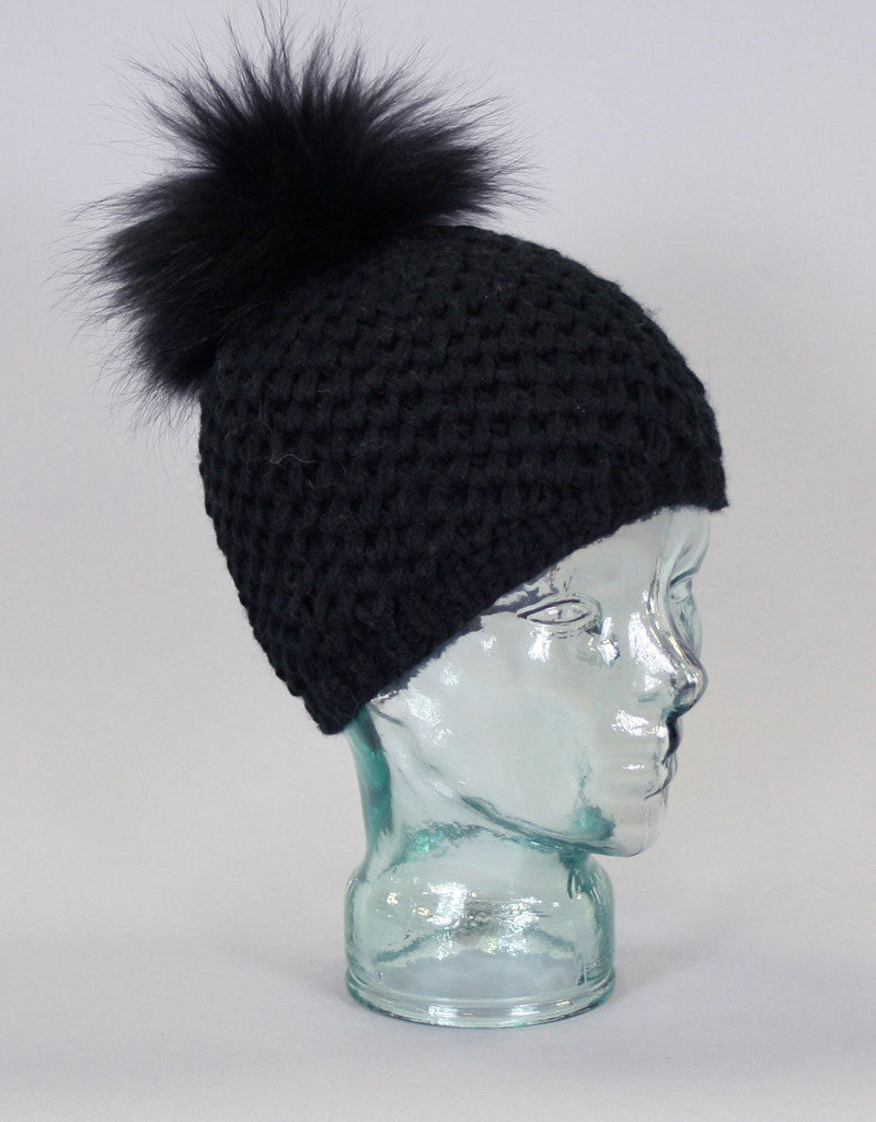 V-Stitch Knit Hat-A
