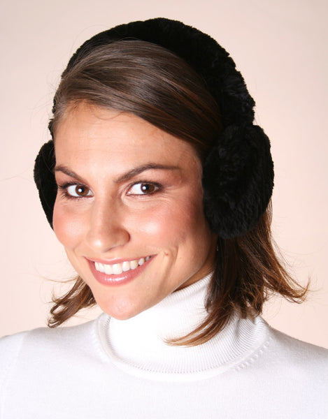 Soft all fur earmuff in sheared beaver