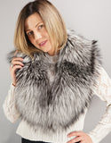 Lux Fur Collar- Silver