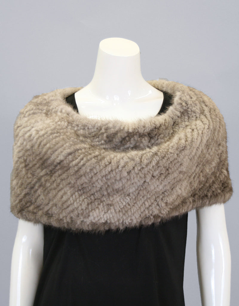 Minktail Stretch Cowl/ Shrug