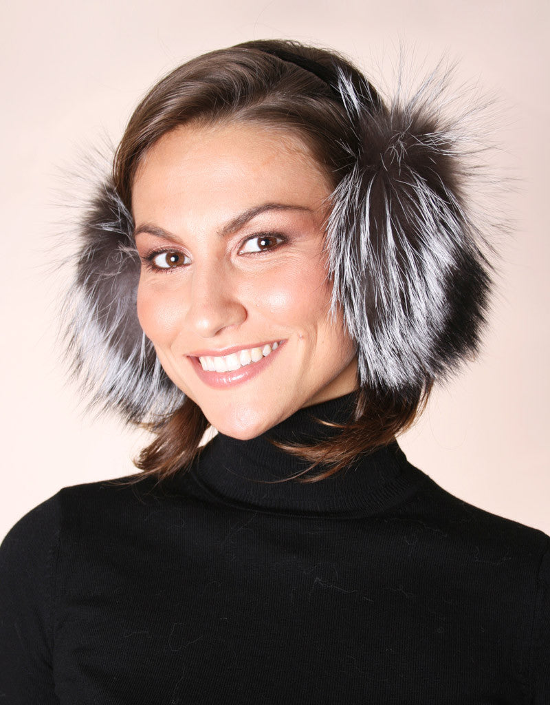 Velvet Band Fur Earmuff-F