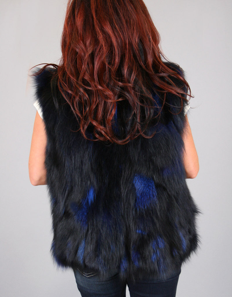 Funky Section Fox Vest-Dark Blue