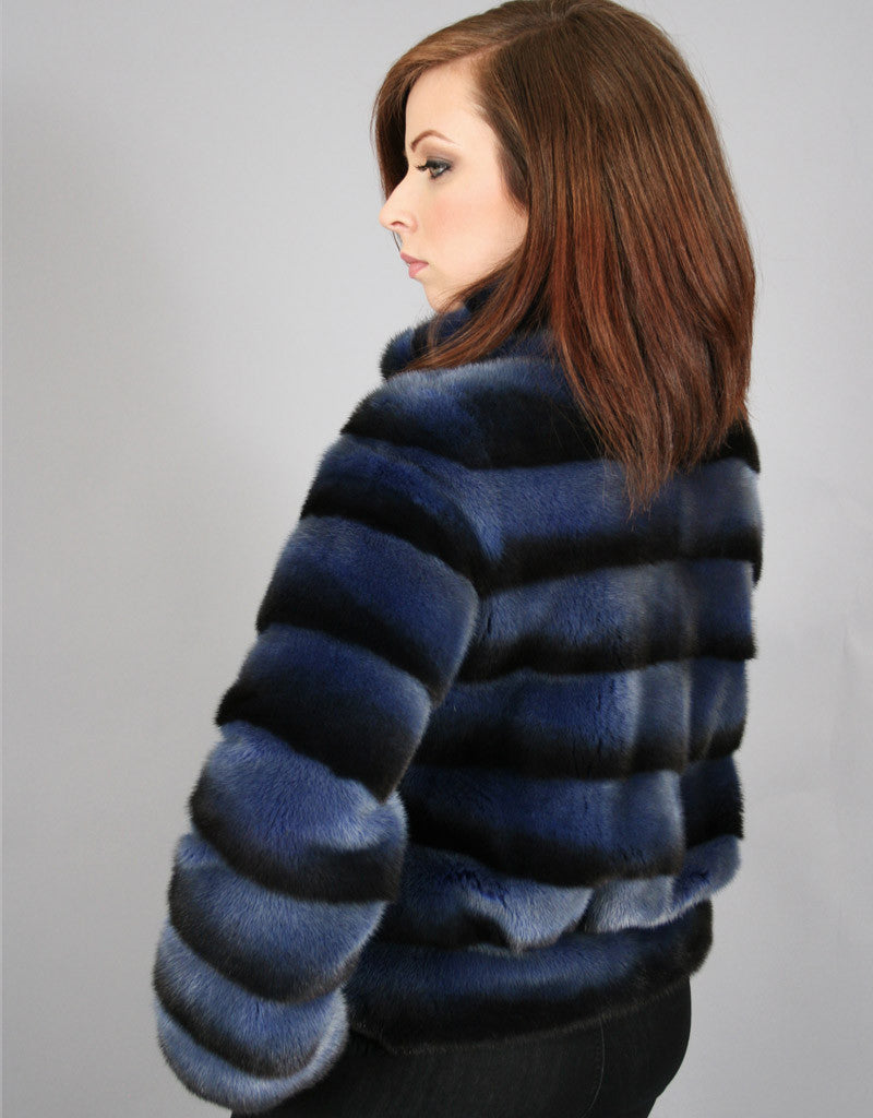 Modern Mink Jacket-Denim