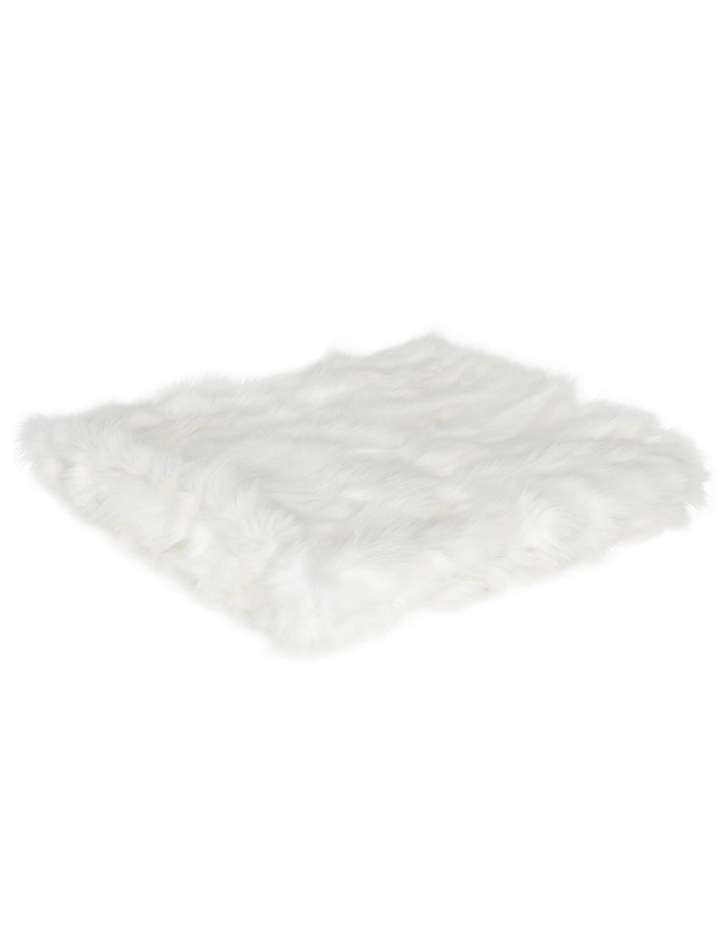 CANADIANA Fox Blanket - White Fox