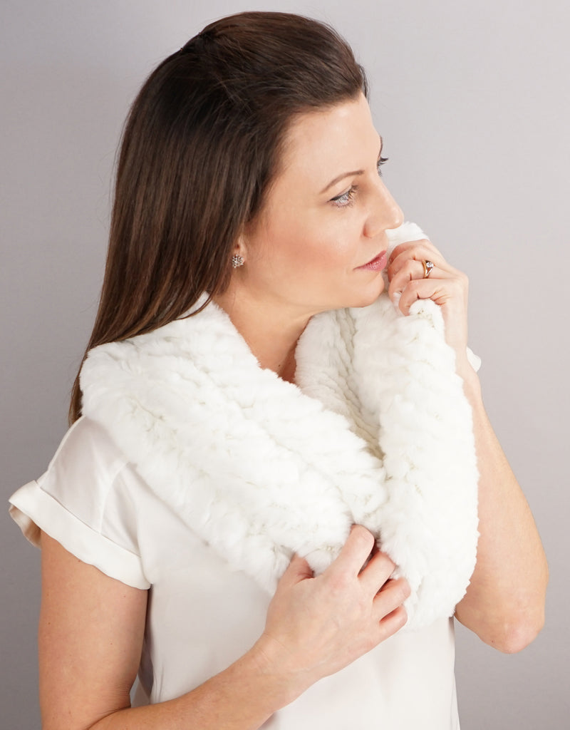 Stretch Cowl/ Shrug- White