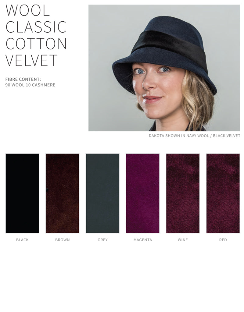 Lillie Cohoe / Wool Classic With Velvet Band Cap - Freda