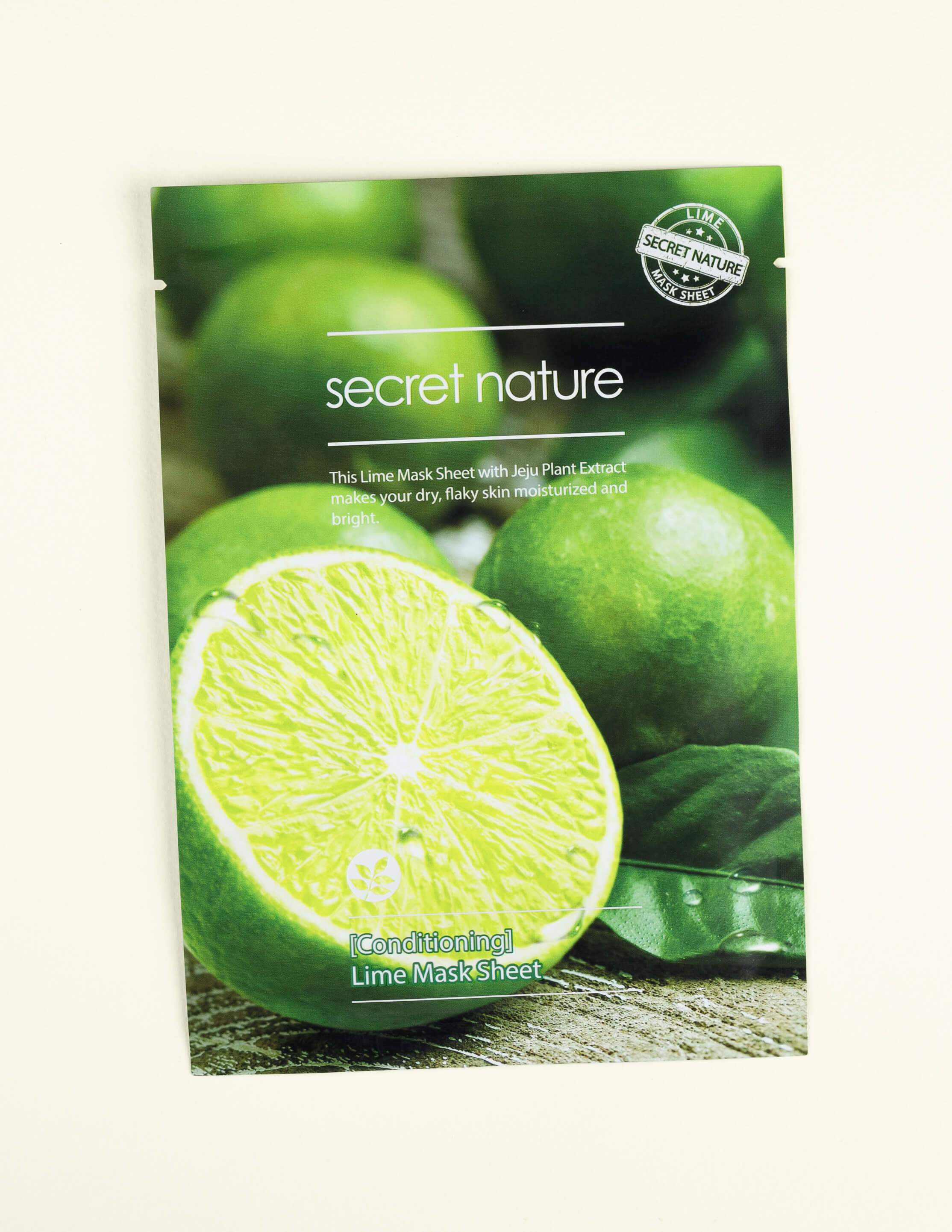 Conditioning Lime Mask Sheet 1pc