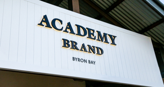 We welcome The Academy Brand to Byron Bay!