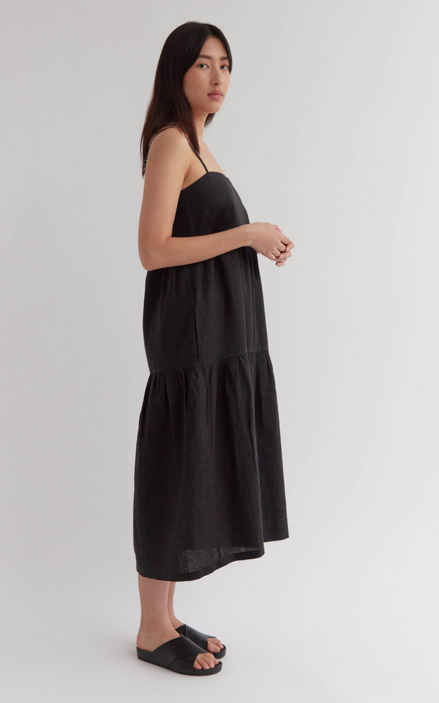 Riley Crop - Black Rib