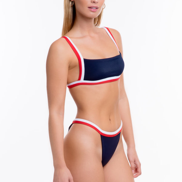 Amelia Bottoms Ribbed - Navy