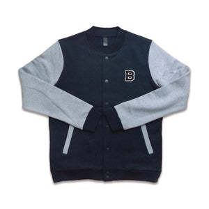 BAMN College Jacket - B Logo // Navy Blue // Limited Edition - Bamn Apparel