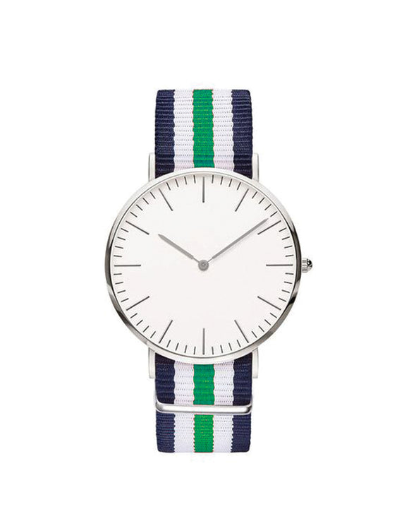 Nato Strap Watch - Navy Blue/Green