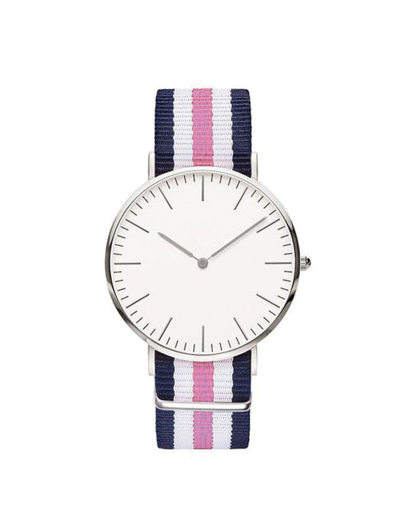 Nato Strap Watch - Navy Blue/Pink
