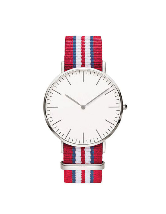 Nato Strap Watch - Red/Blue