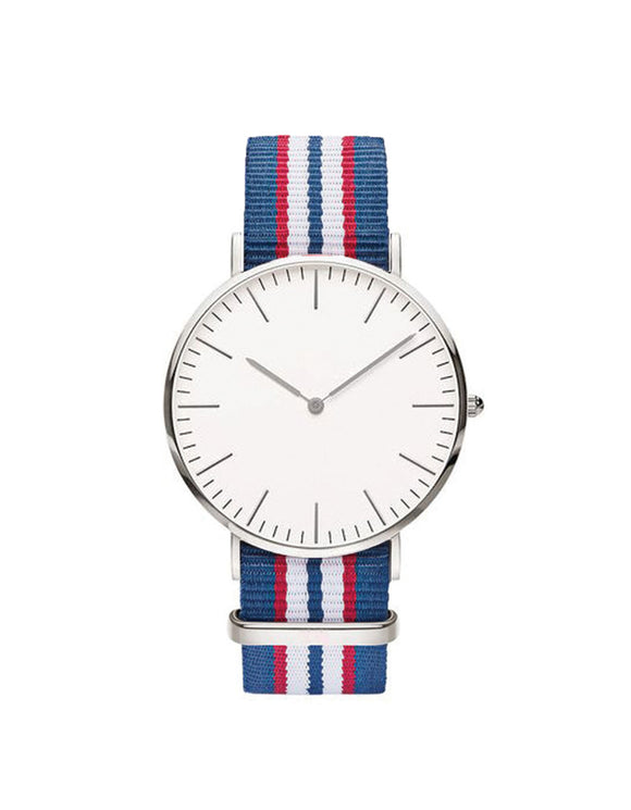 Nato Strap Watch - Royal Blue/Red