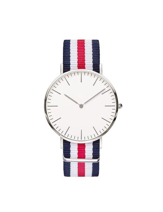 Nato Strap Watch - Navy Blue/Red