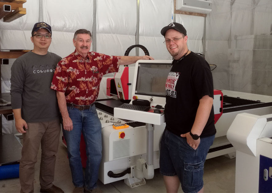 500W Fiber Laser Metal Cutter Installed in California