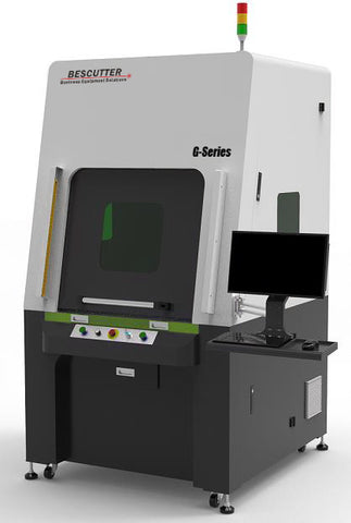 BesCutter 3-axis Laser Head Scanner 180-250W Galvo CO2 Laser Marking Machine Metal Tube Fully Enclosed - BesCutter Laser Cutters and Engravers