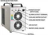 Industrial Refrigerated Water Chiller  CW-5000 for CO2 laser 100W/130W - BesCutter Laser Cutters and Engravers