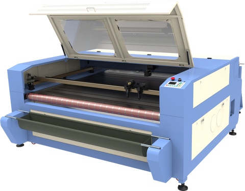 "Fabric Cutting Master 100 63""x39"" with Conveyor Belt and Feeder 100W-150W - Rose Graphix, Lasers, rosegraphix"