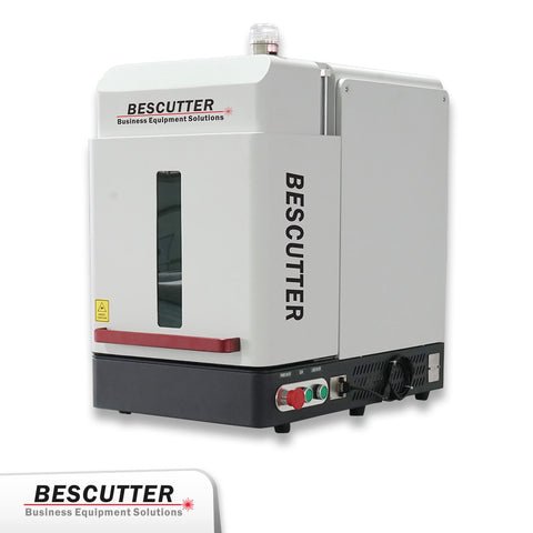30W Galvo Fiber Laser Marking Machine- Mini Enclosed - Rose Graphix, Lasers, BesCutter