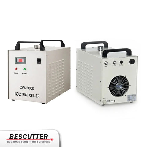 Industrial Water Chiller  CW-3000 for CO2 laser 90W/100W - BesCutter